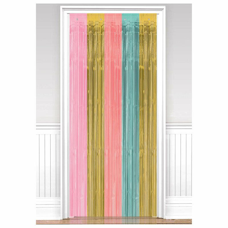 Add Color With A Fun Doorway Curtain