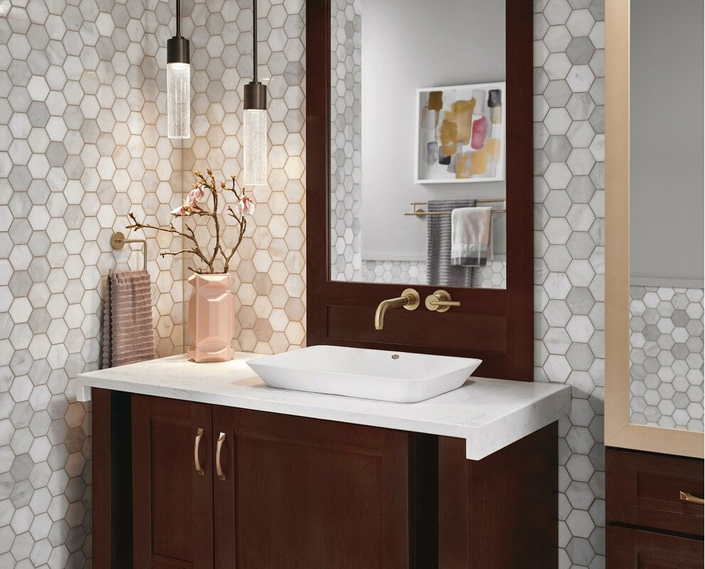 Install a Wall Mounted Bathroom Faucet With Single Handle