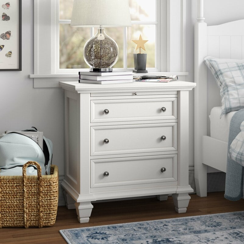 Look for a Bedside Table with More Storage
