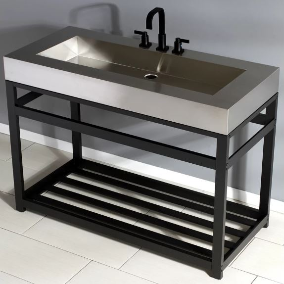 Go With a Rectangular Industrial Stainless Steel Sink