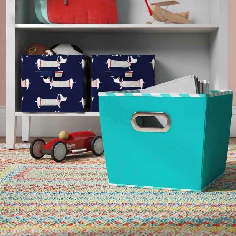 Get Colorful Plastic Storage Bins for a Cheap Dresser Alternative