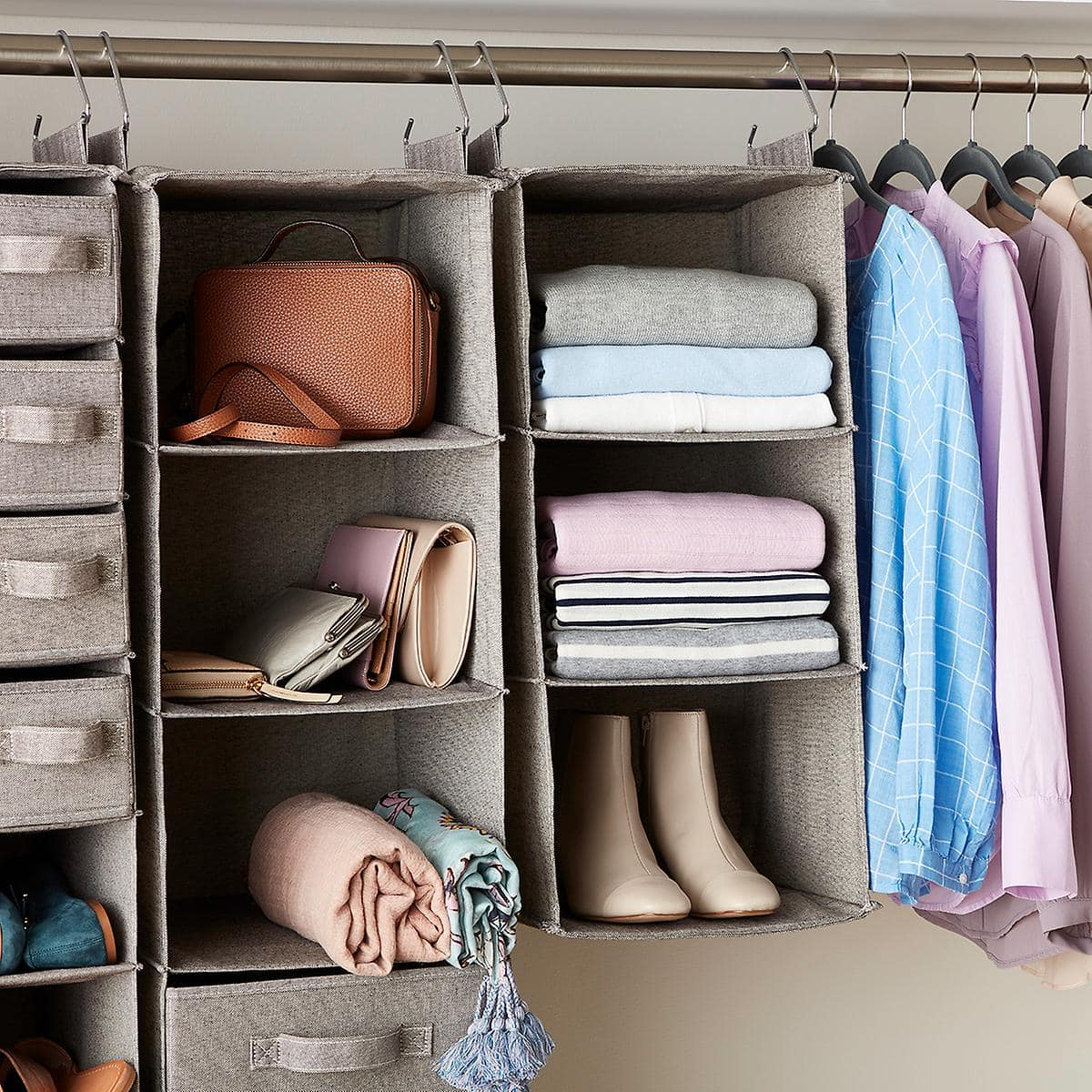 Use a Hanging Rack in Your Closet