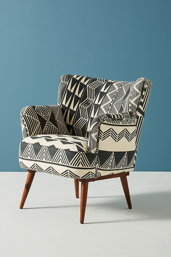 Contrasting Armchair