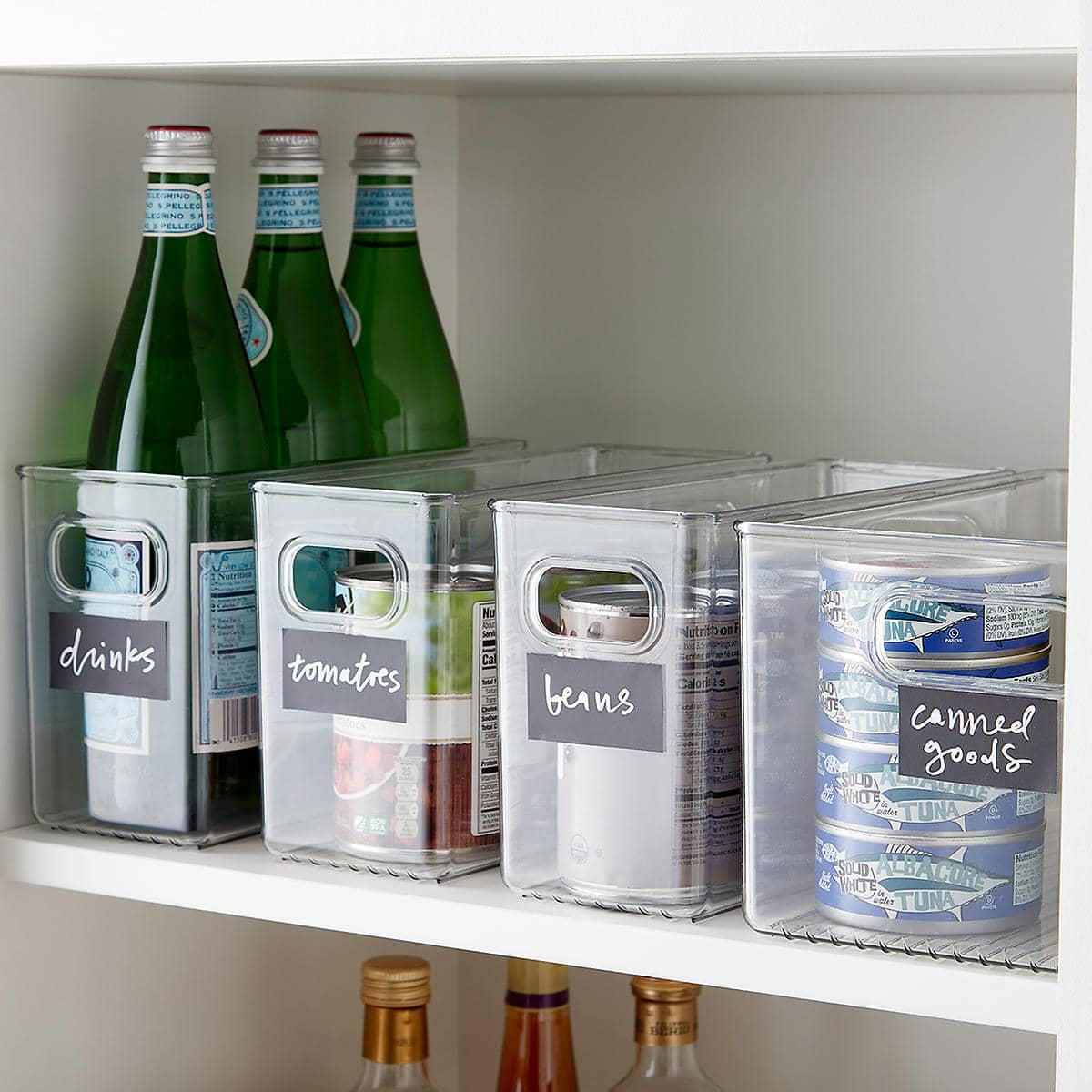 Get Labeled Clear Storage Containers
