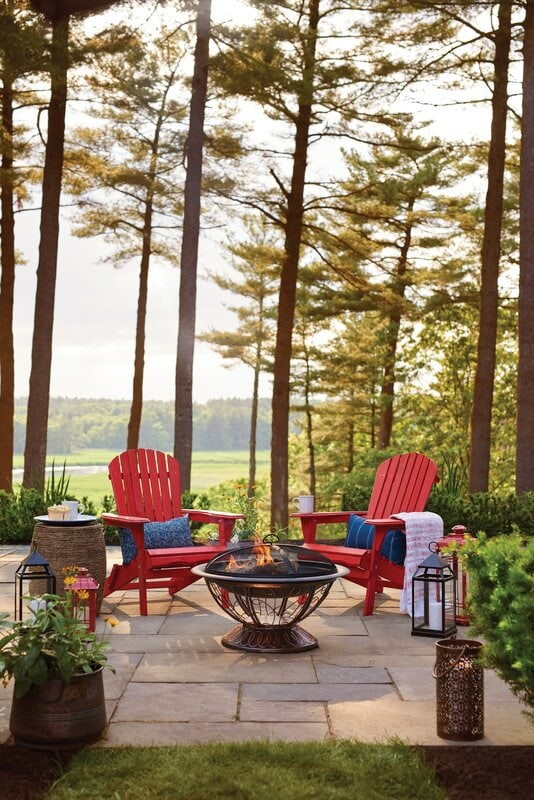 <strong>Install a Firepit and Adirondack Chairs</strong>