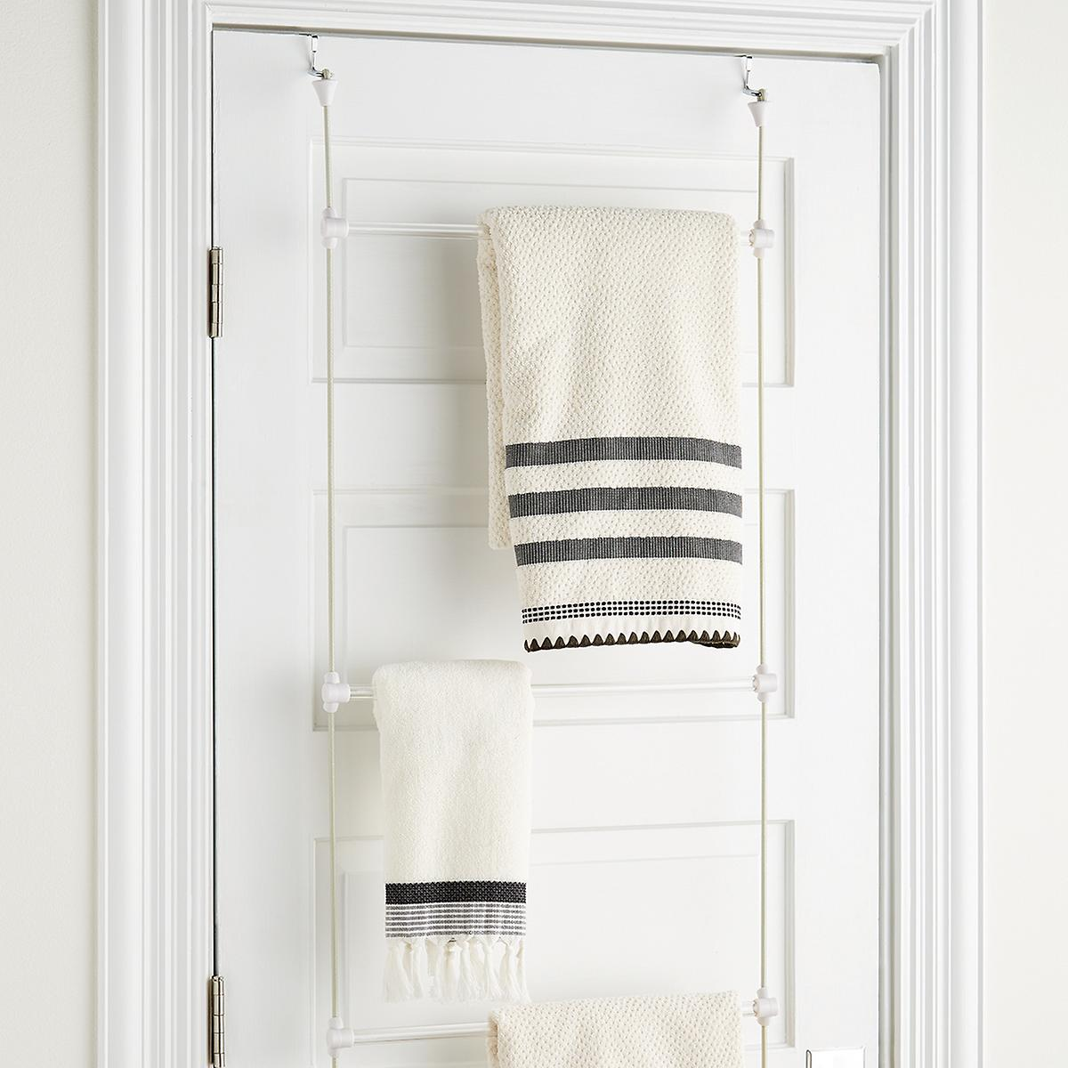 Use Over-The-Door Towel Storage