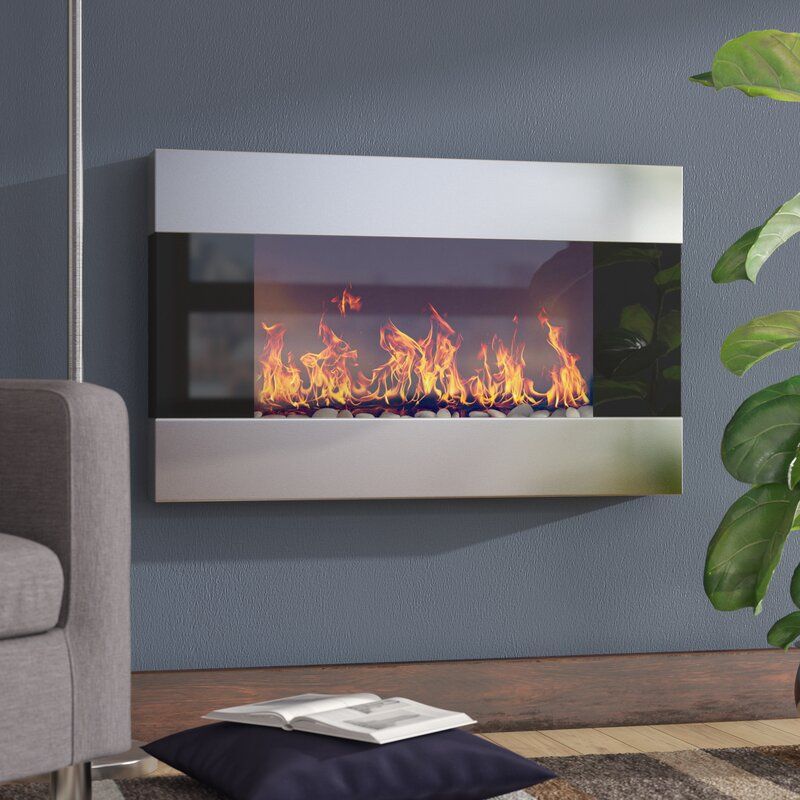 <strong>Get Modern with a Wall-Mounted Glass Fireplace</strong>