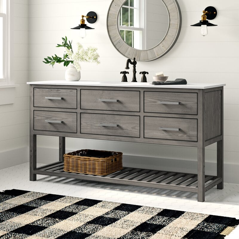 Save Space with a Big Single Vanity