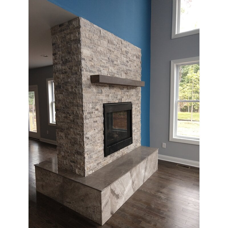 <strong>Create a Half Wall Fireplace</strong>