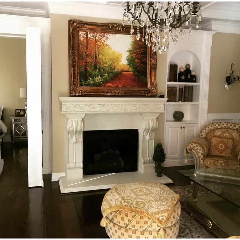 <strong>Classic All White, Elegant Fireplace</strong>