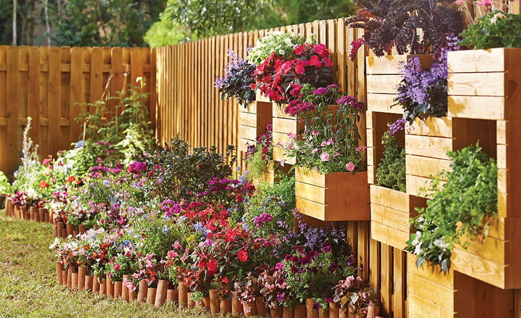 <strong>Turn Your Privacy Fence Into a Wall Garden</strong>