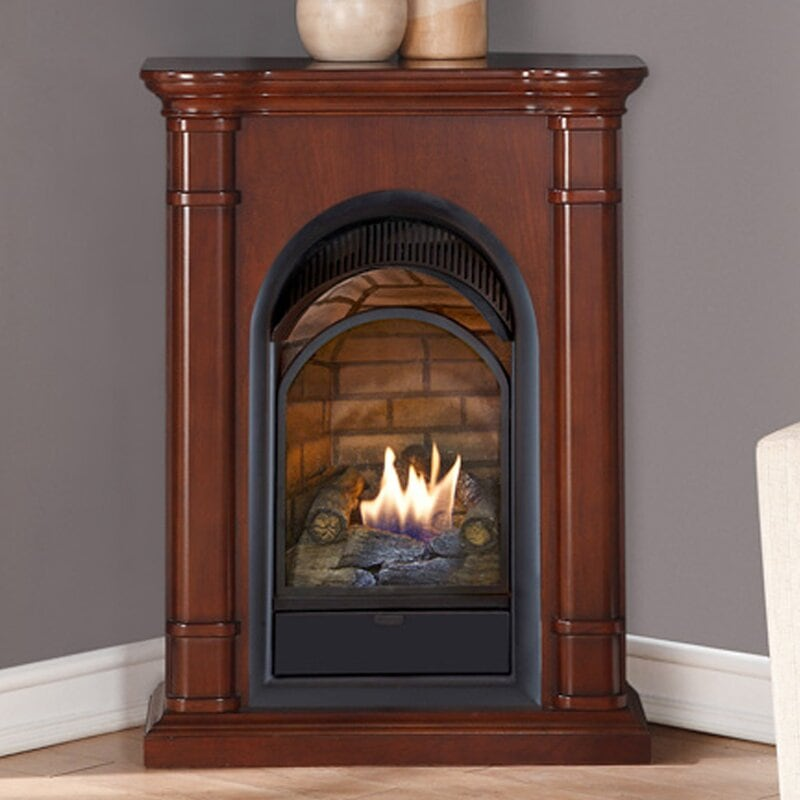 <strong>A Wooden Corner Fireplace</strong>