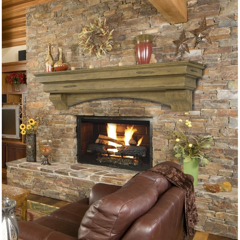 <strong>A Cozy Brick Fireplace with Seat</strong>
