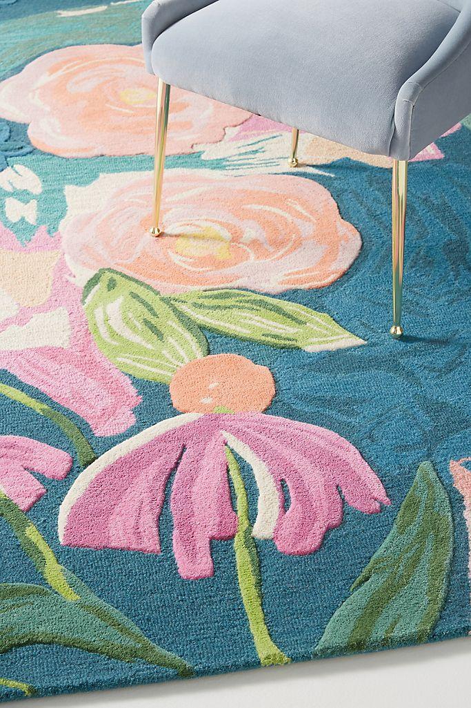 Bright Jewel-Tone Floral Print