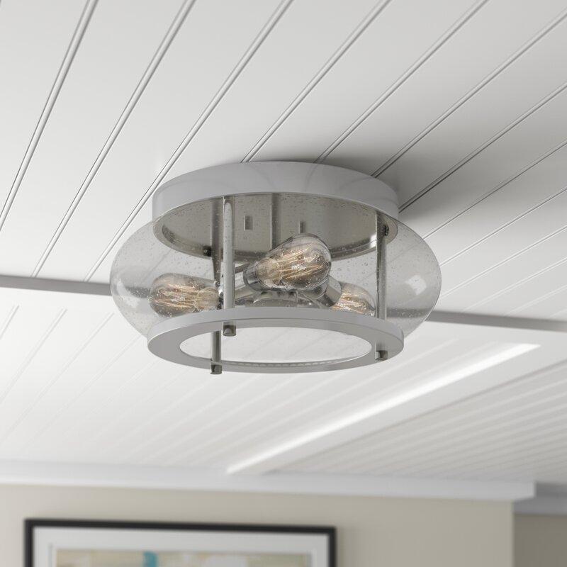 Flushmount With Edison Bulbs