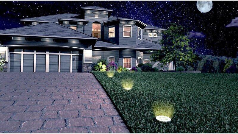 Solar Powered Up-Light