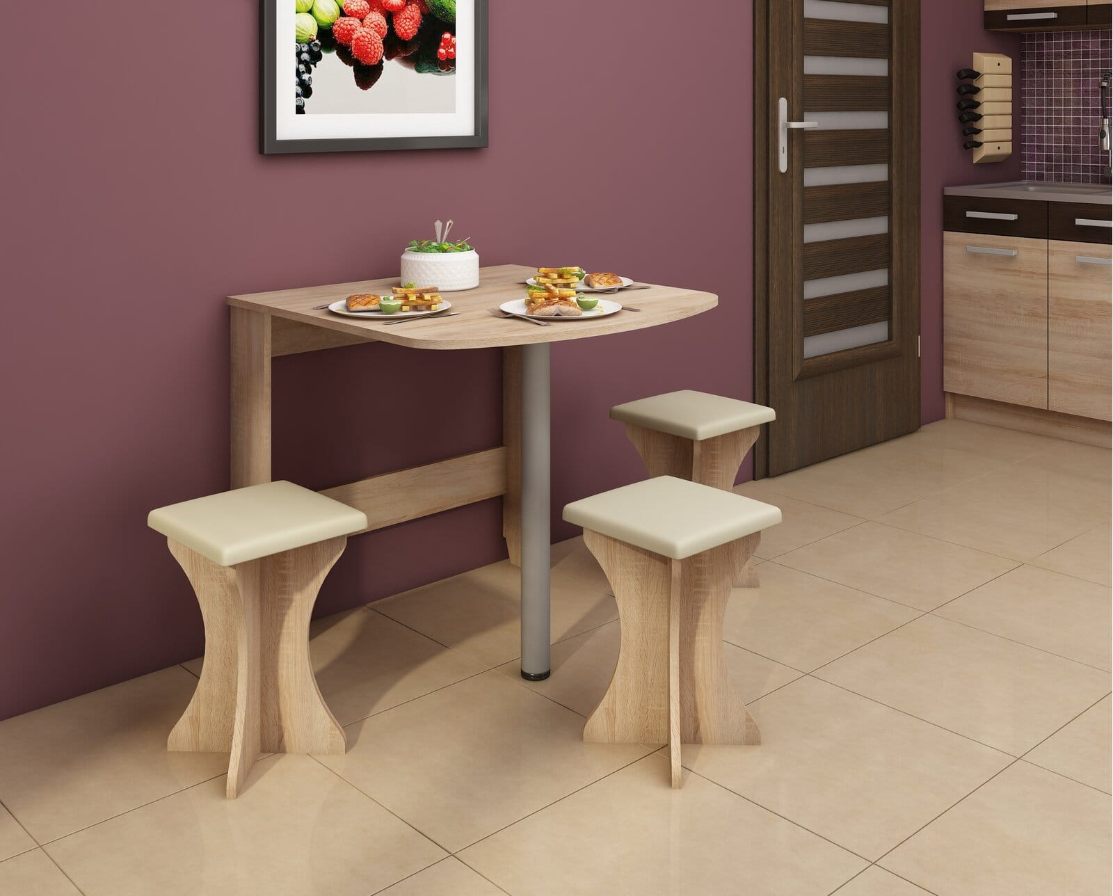 Maximize Space in Your Kitchen With a Drop Leaf Dining Table