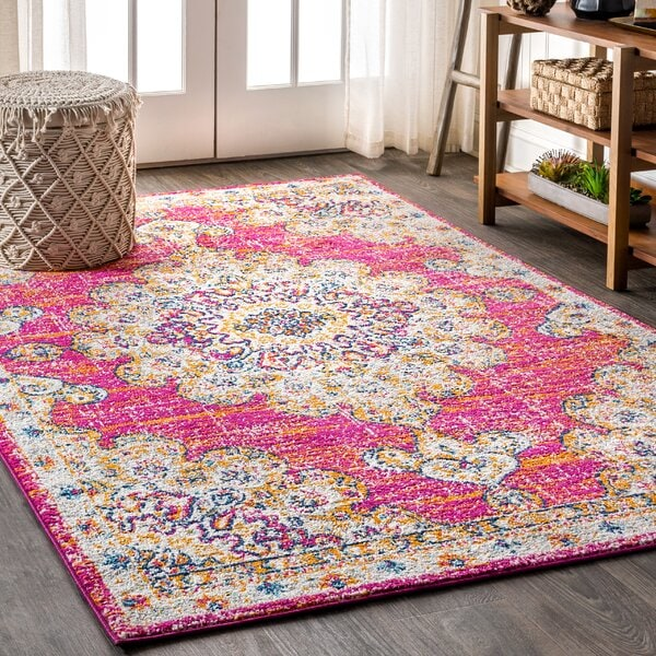 Cheer up Your Living Space With a Bright Boho Style Rug
