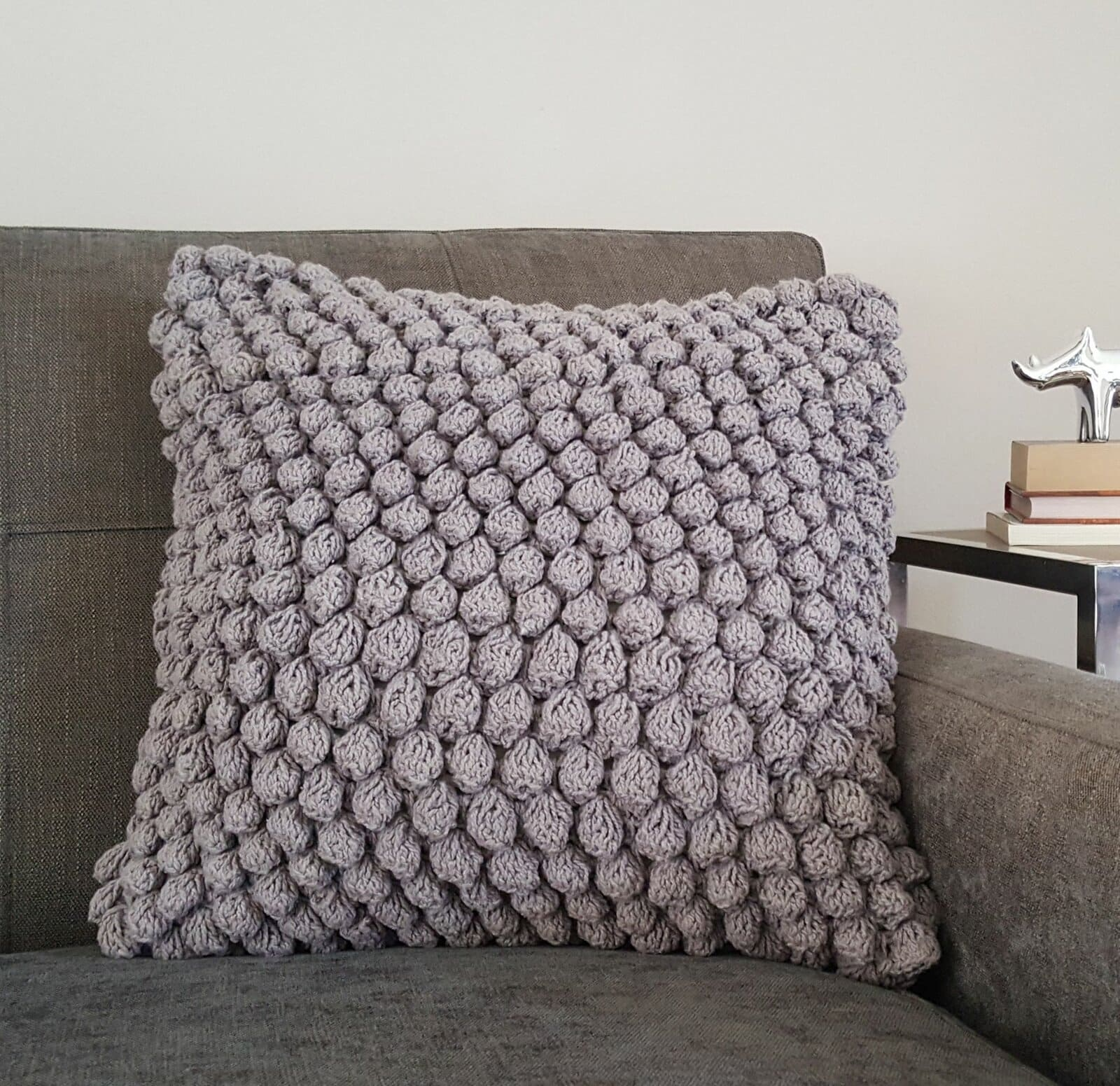 Add More Texture With a Hand-Crocheted Throw Pillow