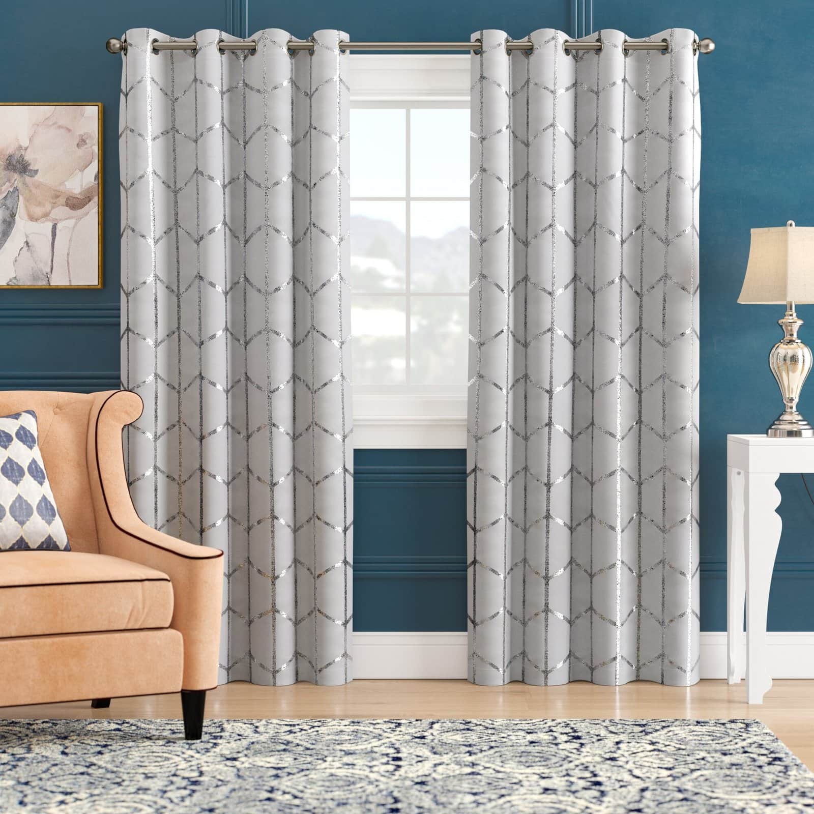 What Color Curtain Goes With Blue Walls? - 16 Ideas