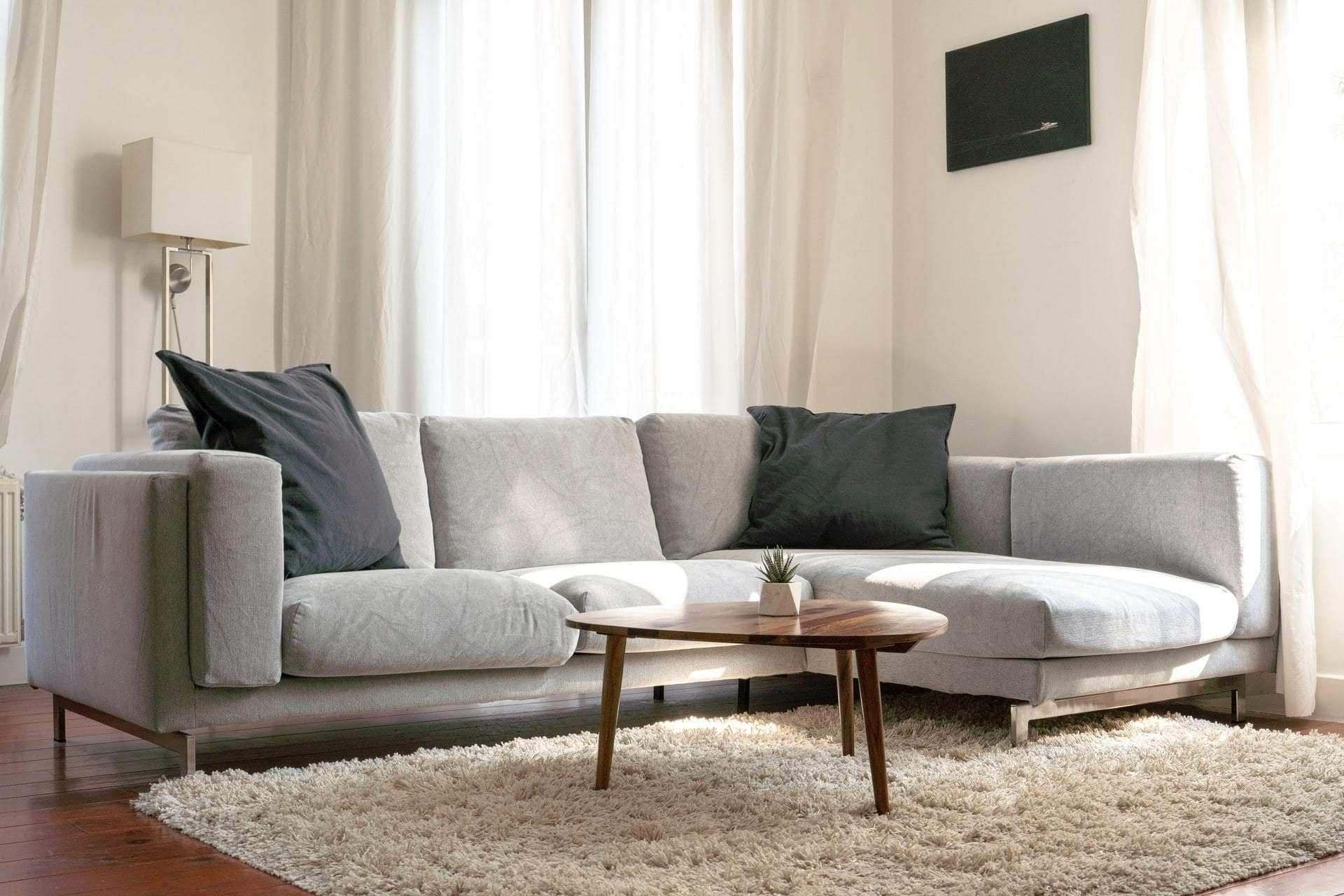 Dark Grey Couch Cushions For a Light Grey Couch