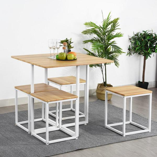 Get a Modern Look With This Space Saving Dining Set