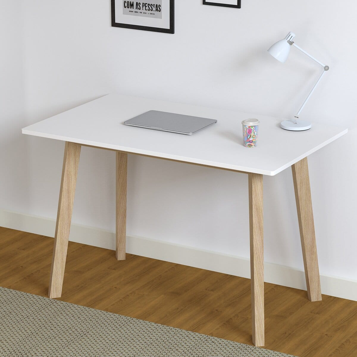 A Space Saving Dining Table That Can Also be a Desk