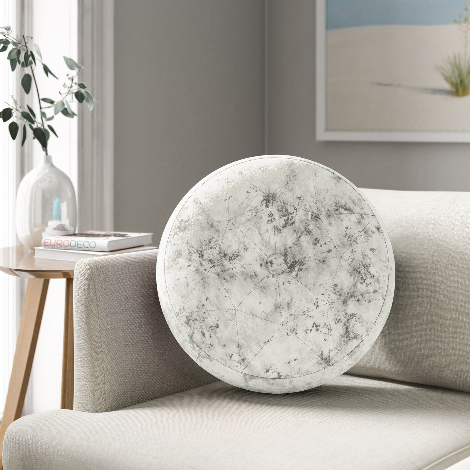Add Variety With Round Throw Pillows