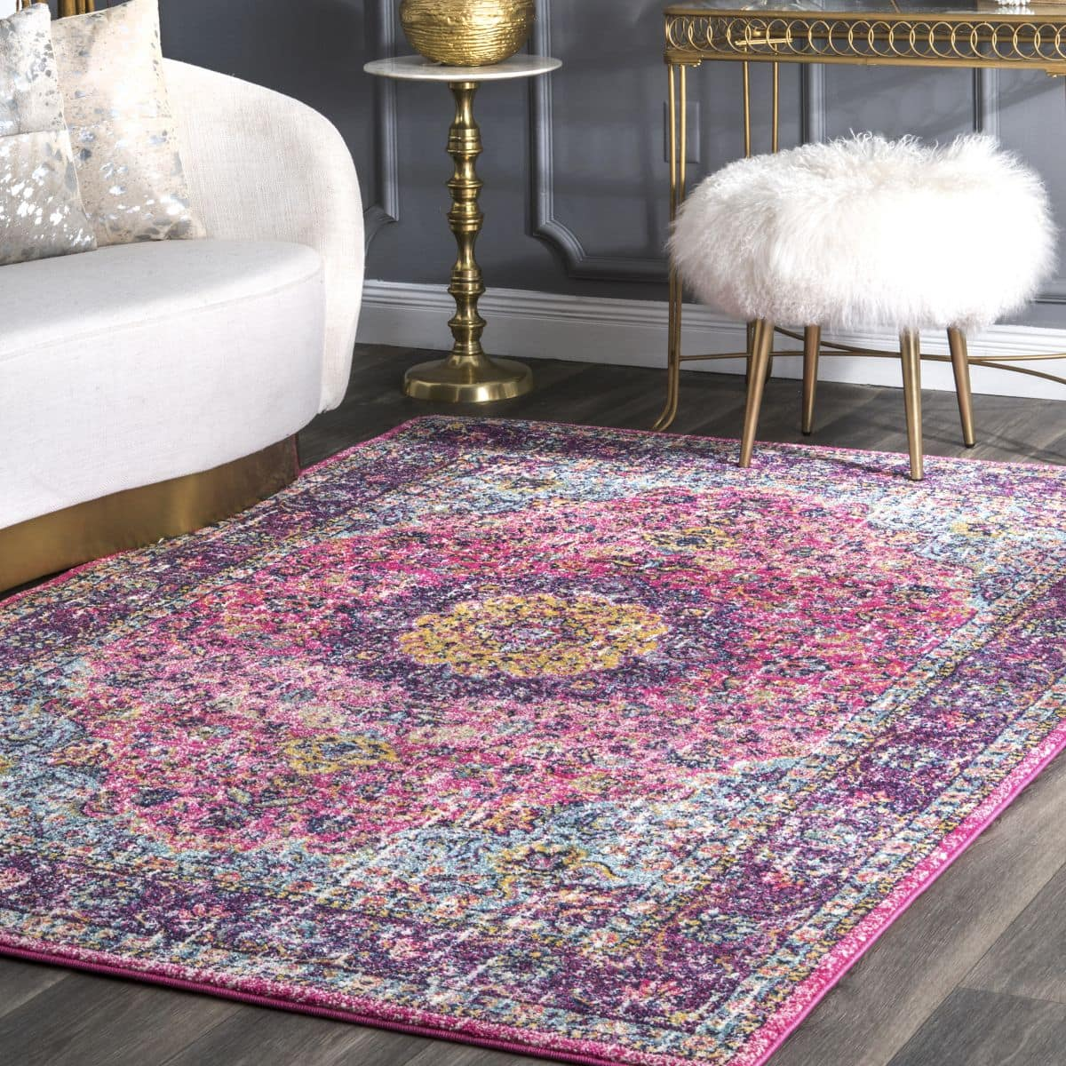 Add a Touch of Luxe With a Pink Persian Area Rug