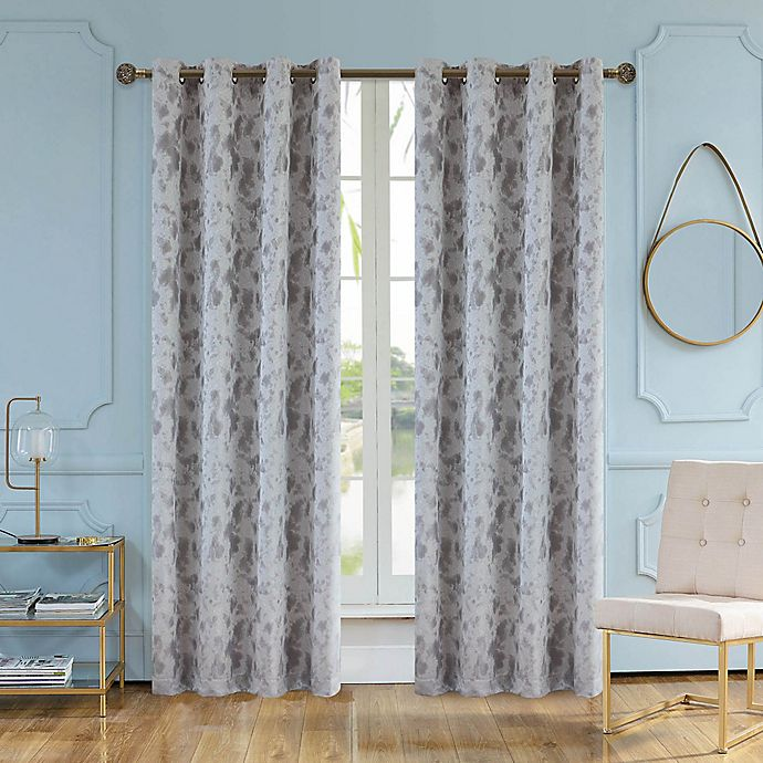 Gray Curtains With Sky Blue Walls for a Stylish and Sophisticated look