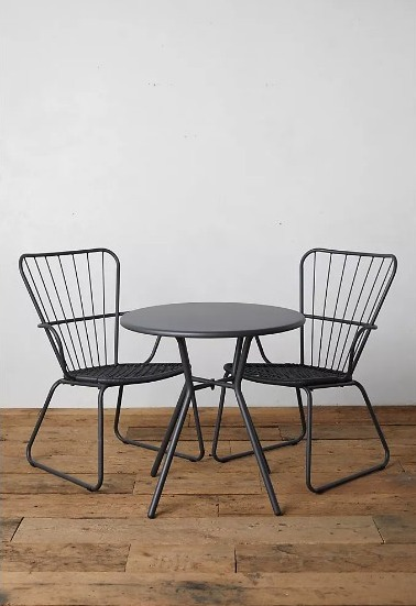 Go Sleek With This Black Oxbow Steel Bistro Table