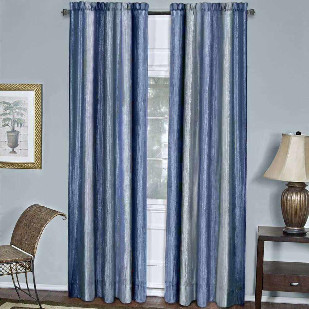 Blue Striped Curtains for Light Blue Walls