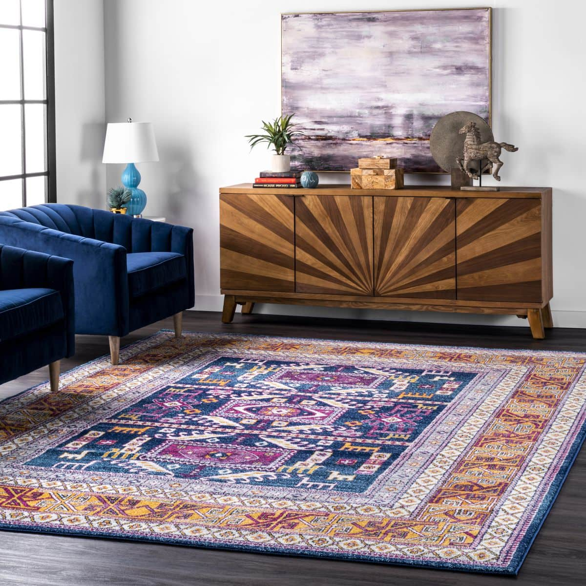 Embrace Color With a Bright Tribal Area Rug