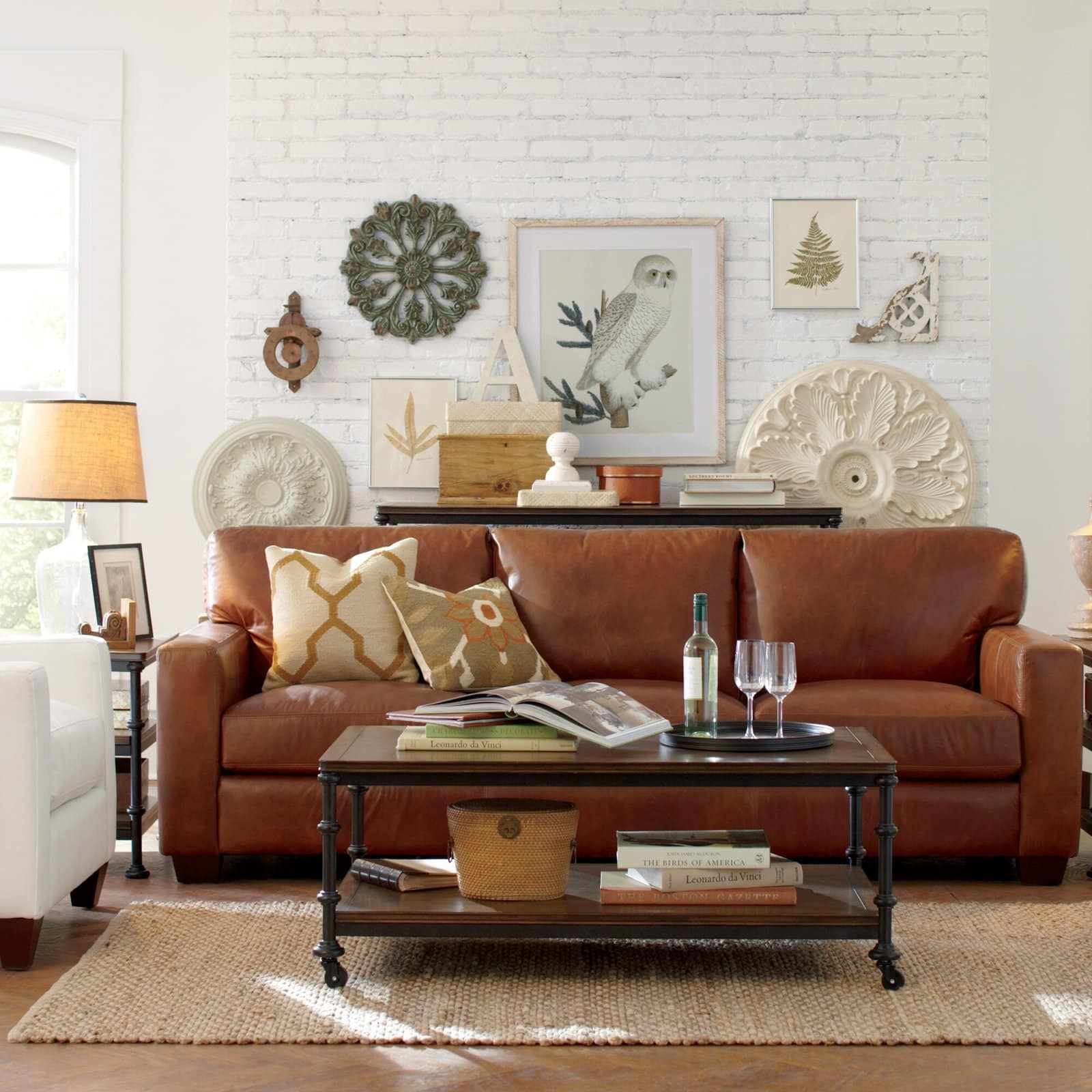 15 Dark Brown Leather Sofa Decorating Ideas