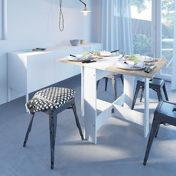 Seat Six or Save Space With a Foldable Dining Table
