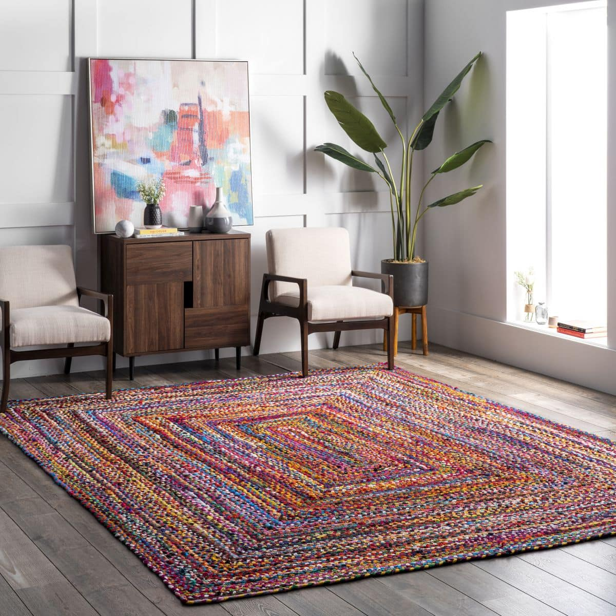Add a Splash of Bright Color With a Multicolor Braided Area Rug