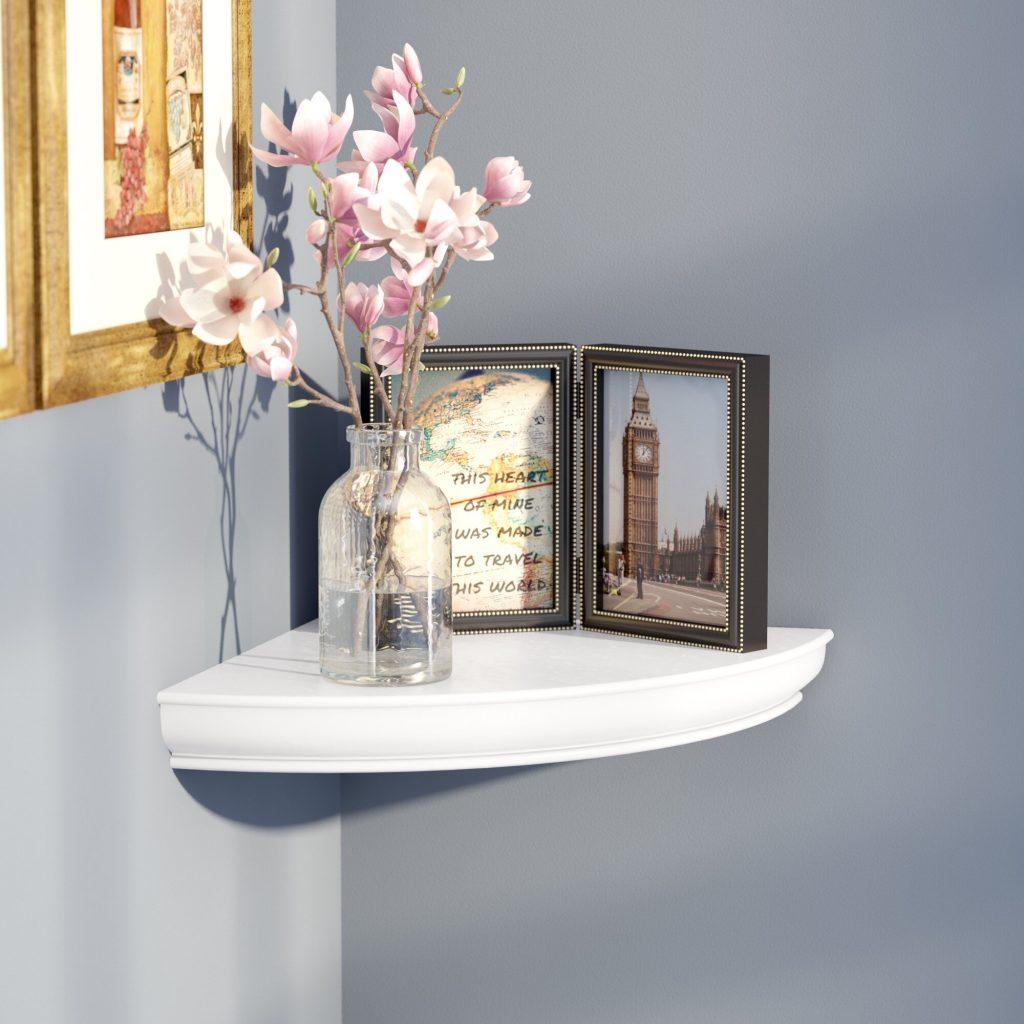 Floating Corner Shelves for Extra Storage