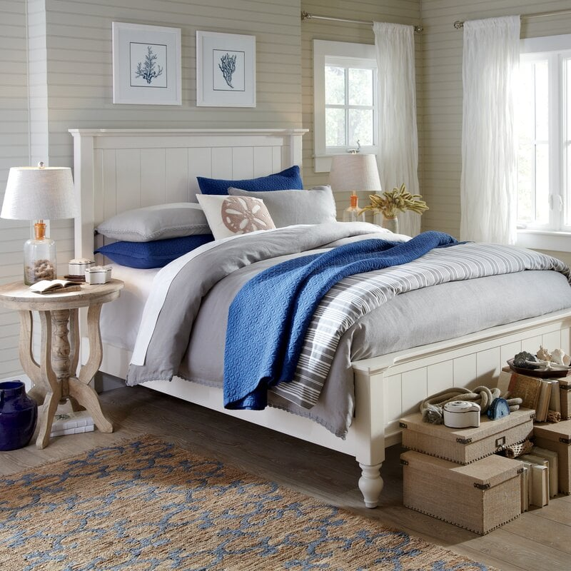 Blue And Grey Bed