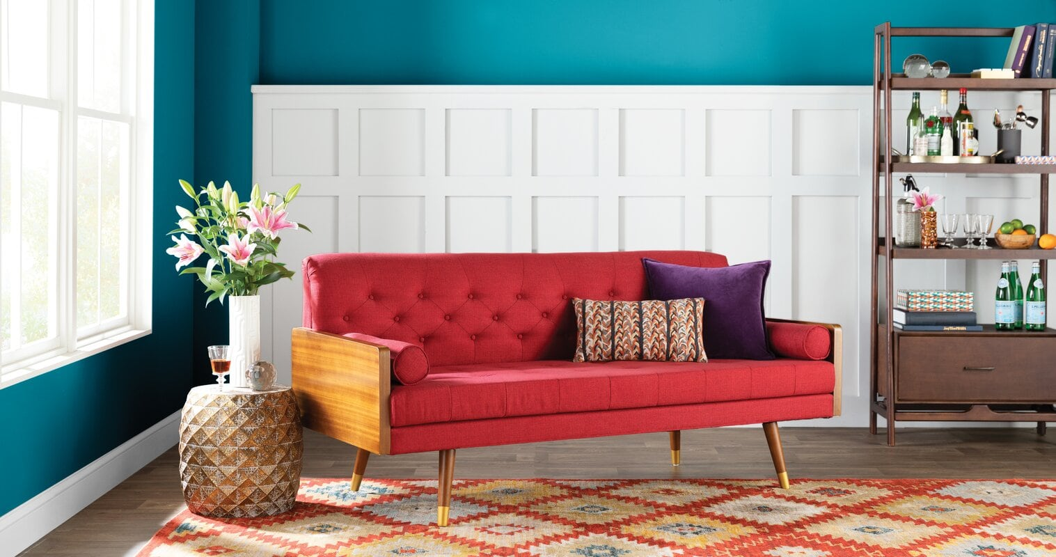What Color Rug Goes a With Red Couch? - 10 Ideas
