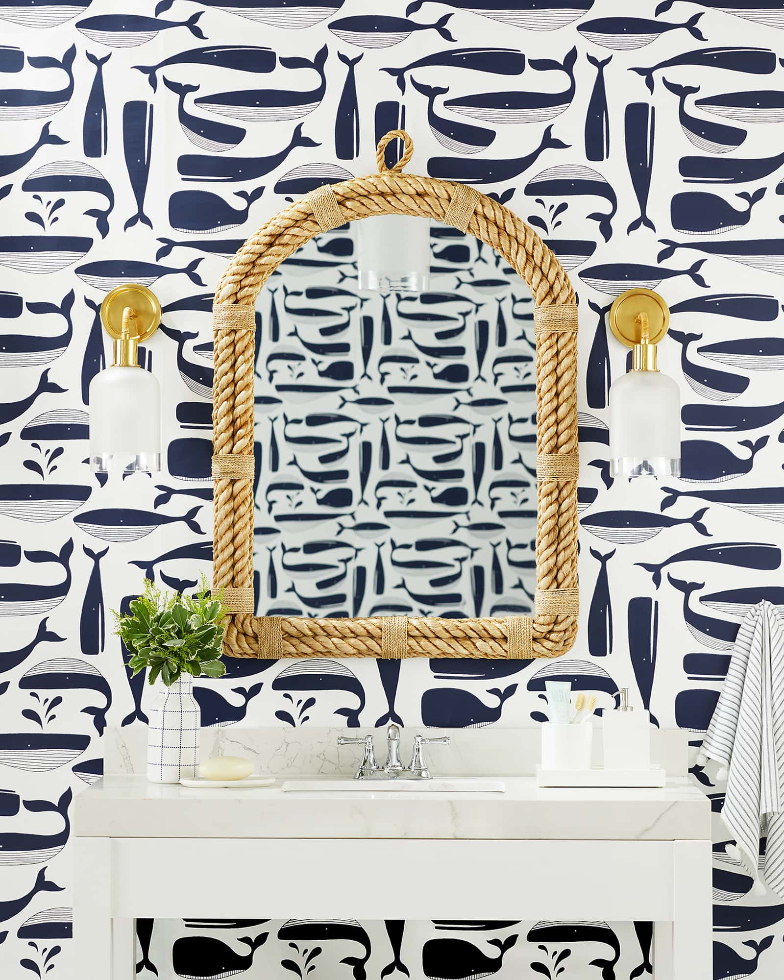 Nautical Rope Arch Mirror