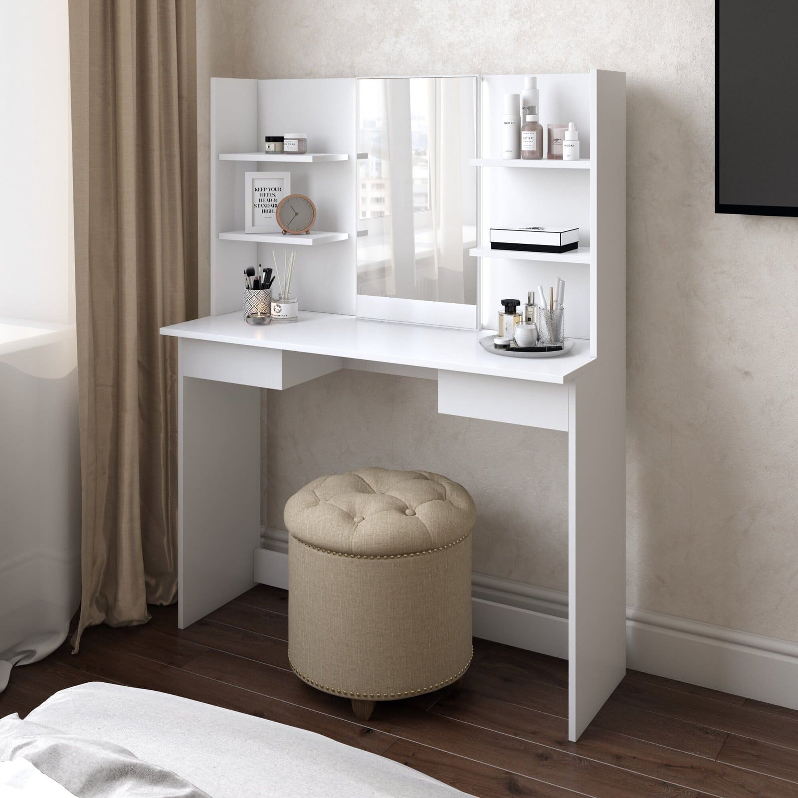 Find A Vanity With Shelves