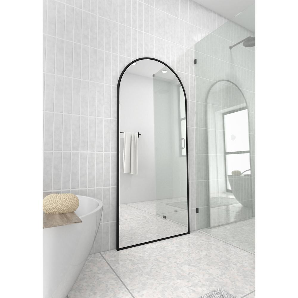Large Arched Wall Leaning Mirror