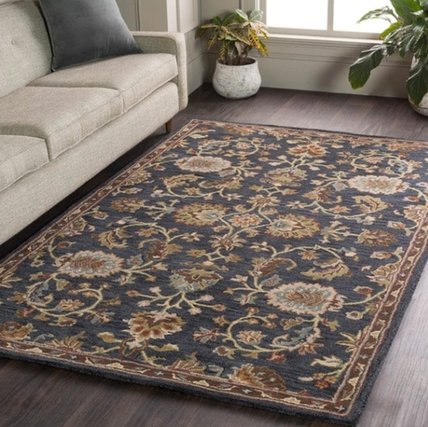 A Traditional Floral Area Rug