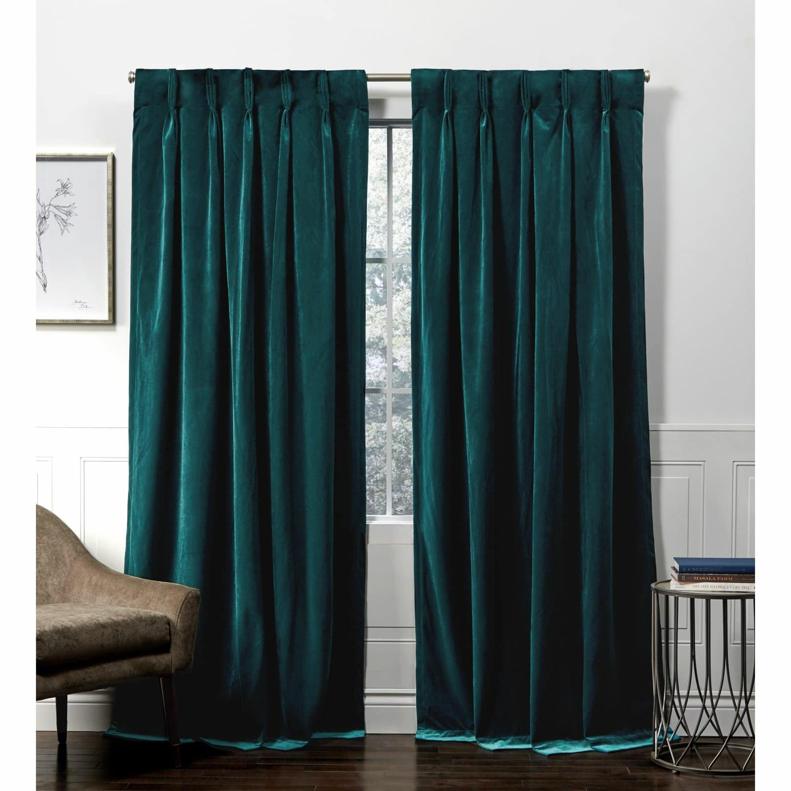 Teal Heavyweight Velvet Curtains