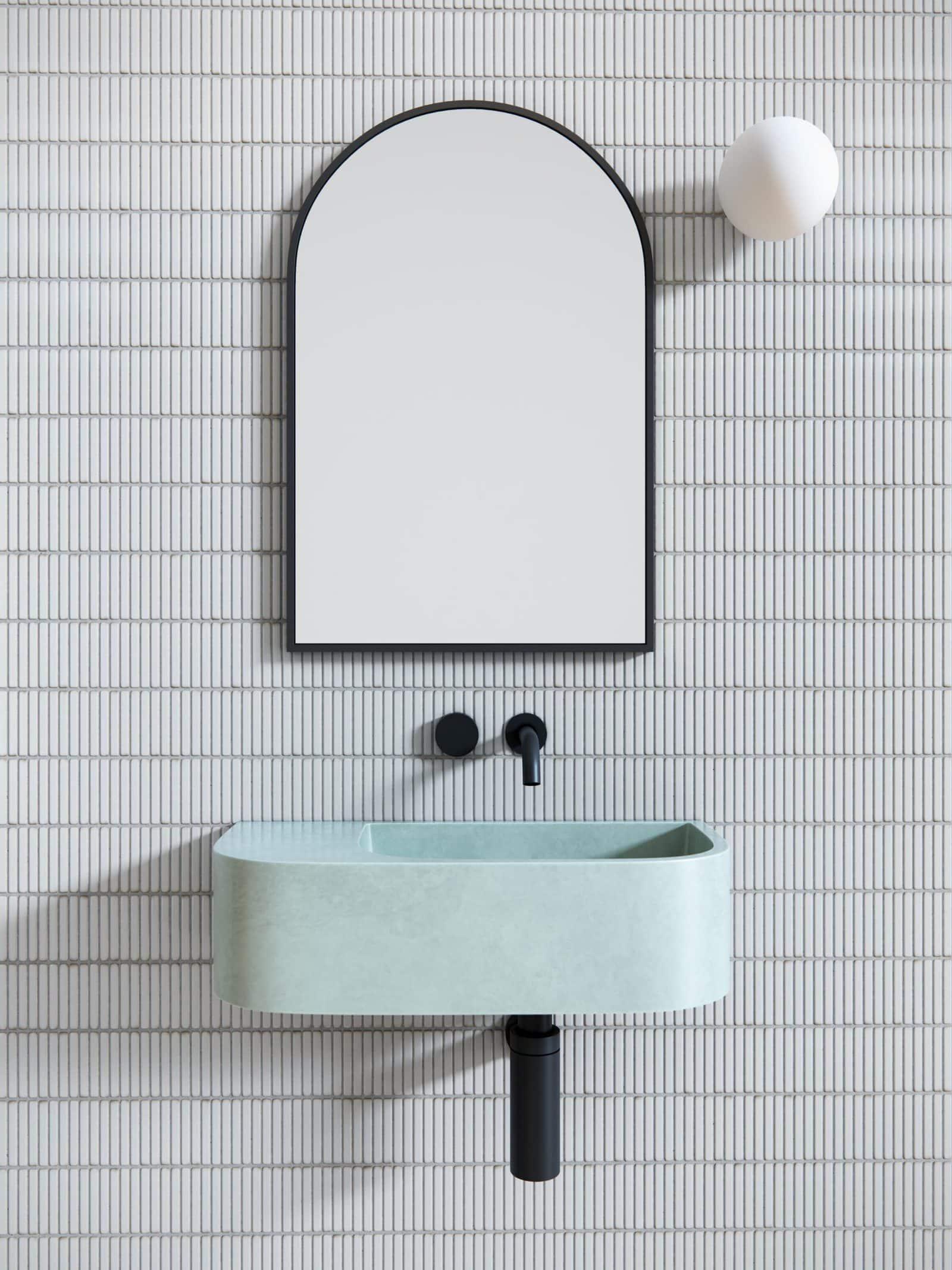 Modern Arched Bathroom Mirror