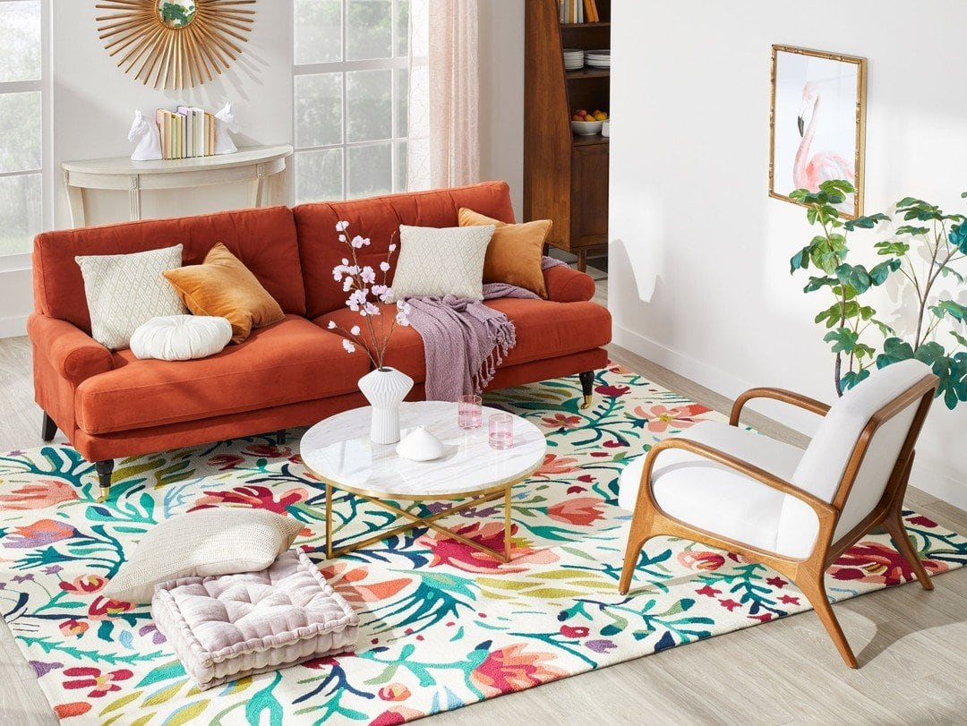 Multi-Colored Floral Veranda Area Rug