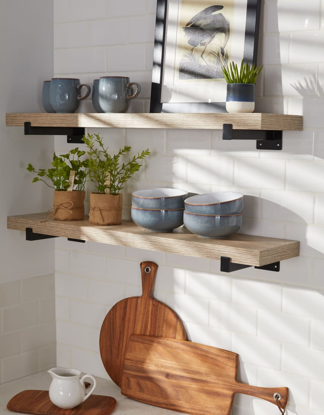 Use Open Shelving