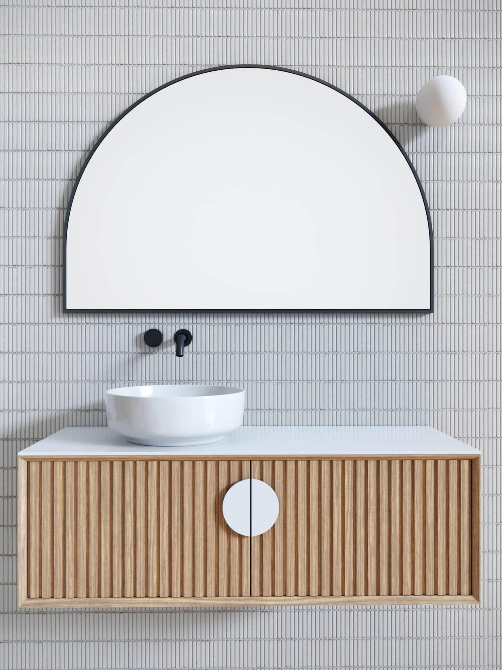 Semi-Circle Bathroom Mirror