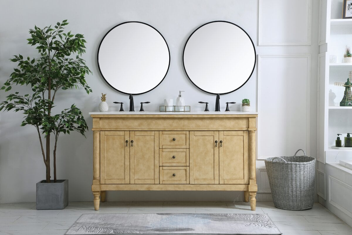 Modern Round Mirrors With a Black Edge