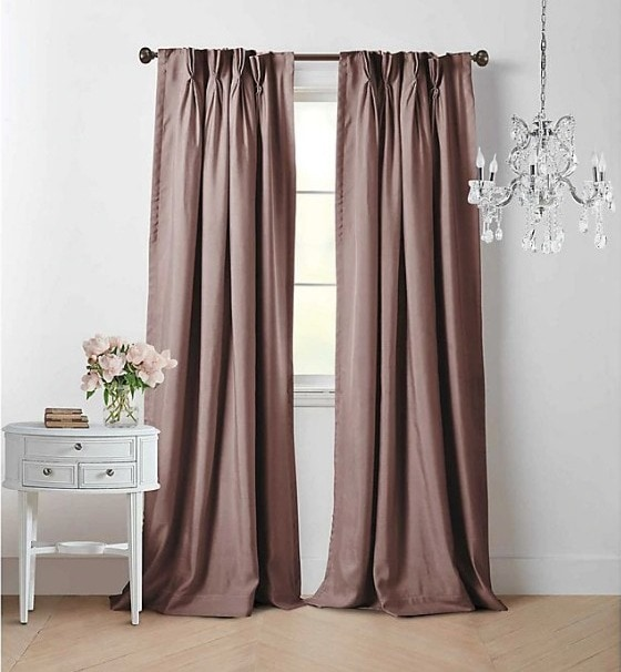 Mauve Curtains With White Walls for a Touch of Luxury